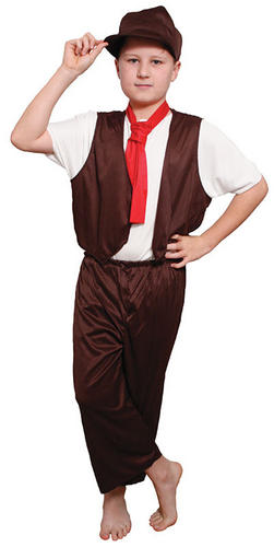 Victorian-Poor-Boy-039-s-Fancy-Dress-Book-Day-Oliver-Twist-Kids-Costume-Ages-6-12