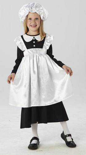 Victorian-Poor-Maid-Girls-Fancy-Dress-Book-Week-Costume-Child-Outfit-Mop-Cap