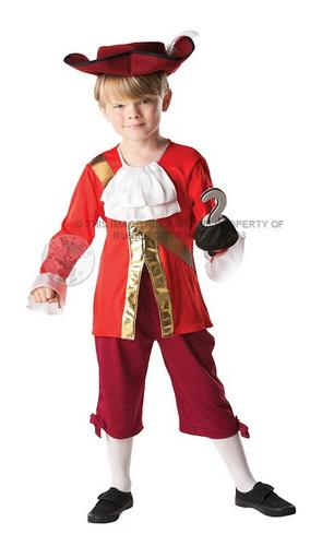 Hat Captain Hook Boy/'s Fancy Dress Book Week Pirate Kids Child Costume Outfit