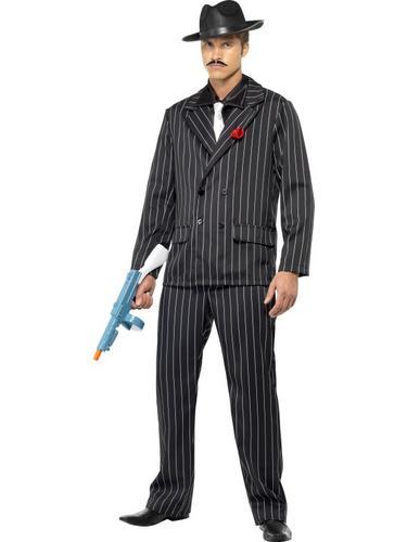 Disfraces con traje negro hombre