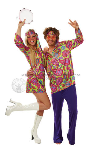 Hippy-Girl-1960s-1970s-Fancy-Dress-Hippy-Ladies-Hippie-Costume-Outfit-UK-8-18