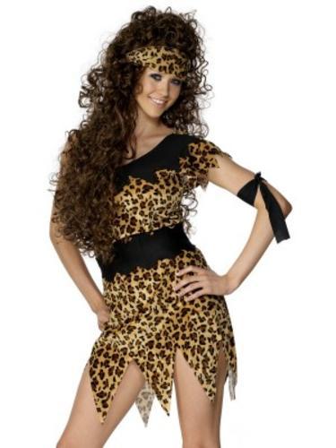 Cavewoman Ladies Cave Girl Fancy Dress Flintsones Jungle Costume Womens Outfit