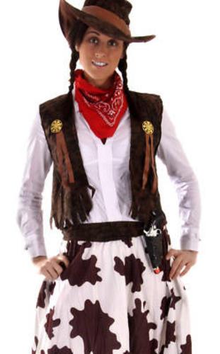 cowgirl lady d guisement western femme costume chapeau de cowboy femme uk 10 18 ebay. Black Bedroom Furniture Sets. Home Design Ideas