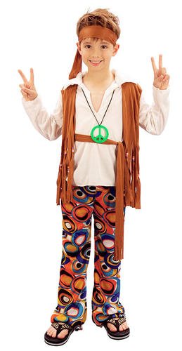 Hippy-Boy-Costume-Groovy-1960s-Hippie-Child-Kids-  sc 1 st  eBay & Hippy Boy Costume Groovy 1960s Hippie Child Kids 60s 70s Fancy Dress ...