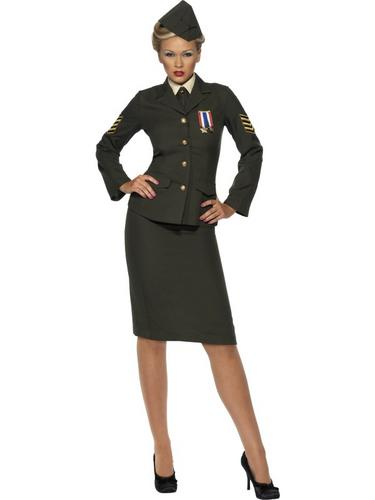 Wartime-1940s-Army-Officer-Ladies-Military-Uniform-Fancy-Dress-40s-Costume-8-26