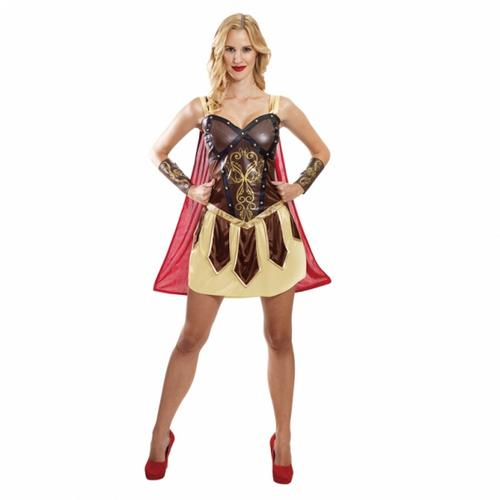 Viking-Warrior-Princess-Costume-Ladies-Valkyrie-Barbarian-Womens-Fancy-Dress-New