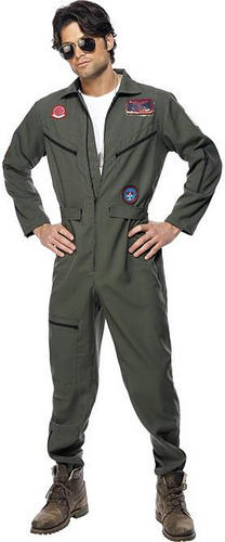 Top-Gun-Aviator-Glasses-Tag-Fancy-Dress-Pilot-1980s-Mens-Military-Costume