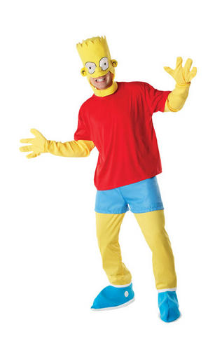 Bart simpson mens fancy dress tv cartoon character s