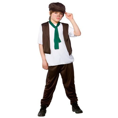 Victorian-Poor-Boy-Fancy-Dress-Up-Oliver-Twist-Kids-Childrens-Outfit-Hat-3-10
