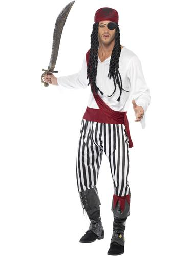 pirate homme d guisement adultes pirates of the caribbean film costume homme tenue ebay. Black Bedroom Furniture Sets. Home Design Ideas