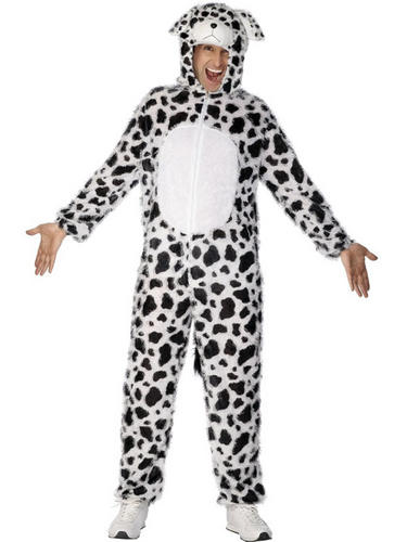 Dalmatian-Dog-Costume-Adult-Mens-Ladies-Fancy-Dress-Book-Dalmation-Costume-NEW