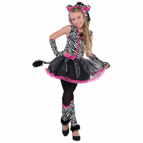 Sassy Stripes Zebra Girls Fancy Dress Animal Halloween Childrens ...