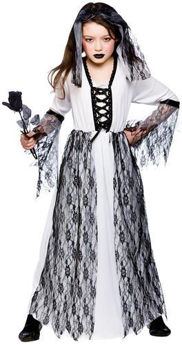 Ghost bride girls fancy dress up wedding zombie halloween childrens costume 3 10 ebay - Deguisement halloween mariee ...