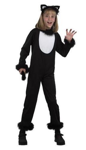 Black Kitty Cat Jumpsuit Kids Fancy Dress Halloween Animal Kids Book Day Costume