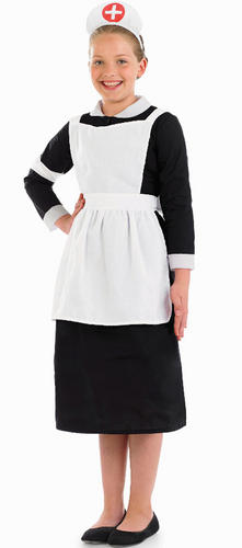 Hospital Nurse + Apron Girls Fancy Dress Book Character Childs Costume Outfit