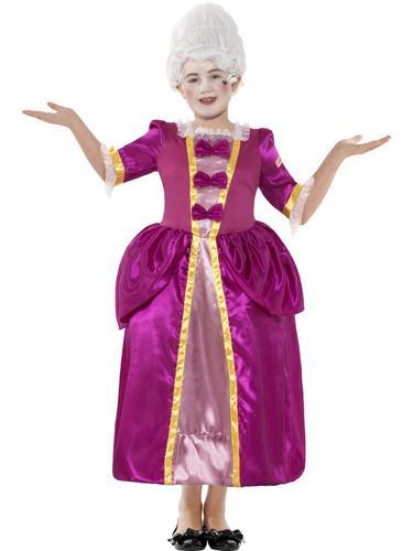 Pink-Georgian-Girls-Tudor-Fancy-Dress-Kids-Victorian-Book-Character-Costume