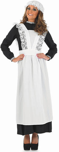 Old-Time-Victorian-Maid-Ladies-Fancy-Dress-Womens-Costume-Outfit-Mop-Cap-New