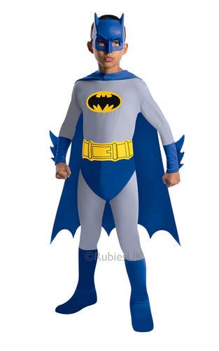 Batman Brave /& Bold Kids Fancy Dress Boys Superhero Costume Childs Outfit 3-10