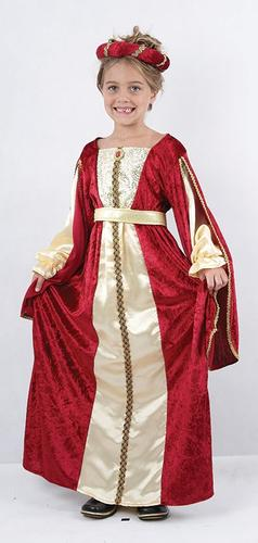 Royal Princess Girls Fancy Dress Medieval Tudor Fairy Tale Book Day Kids Costume