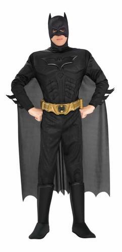 Deluxe Dark Knight Batman Adults Fancy Dress Superhero Mens Halloween Costume