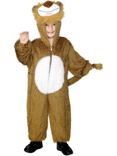 Jungle-Lion-Kids-Fancy-Dress-Animal-Book-Week-Zoo-Boys-Girls-Childrens-Costume