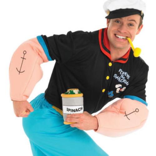 Popeye mens fancy dress tv show cartoon sailor man s