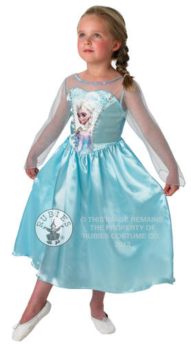 Disney-Frozen-Girls-Fancy-Dress-Fairytale-Princess-Kids-Childrens-Costume-Outfit