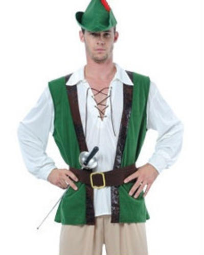 Robin Hood Hat Mens Fancy Dress Medieval Book Week Adults Costume Outfit New
