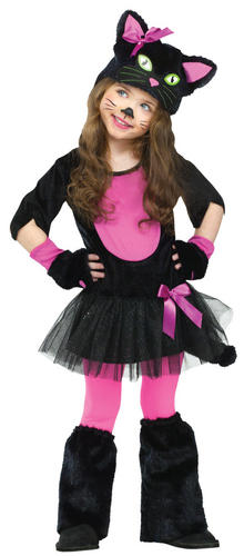 Cute Kitty Cat Girls Age 1-4 Fancy Dress Childrens Childs Halloween Kids Costume