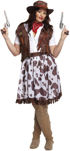 Cowboy /& Cowgirl Couple Fancy Dress Adults Mens Ladies Western Rodeo Costume New