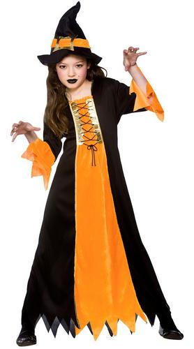 halloween witch hat girls fancy dress up horror - Halloween Girl Dress Up
