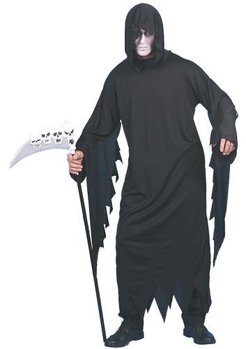Grim Reaper Scythe Mens Fancy Dress Halloween Party Adults Horror Costume New