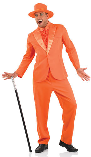 Dumb And Dumber Suit Adult Fancy Dress Mens Harry Amp Lloyd Stag Do Pimp Costume Ebay
