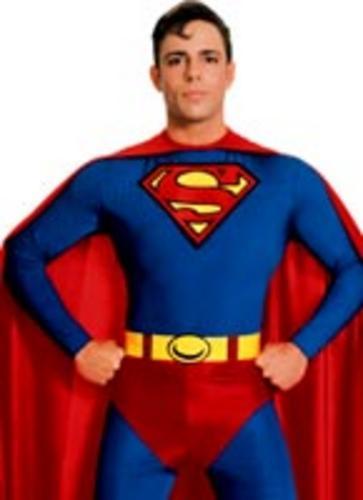 classique superman homme d guisement super h ros adulte costume outfit toutes tailles ebay. Black Bedroom Furniture Sets. Home Design Ideas