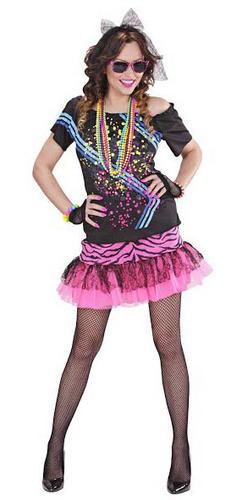 Wonderful Womens Ladies Wicked Rock Star Fancy Dress Costume Glam 80s 70s Leg