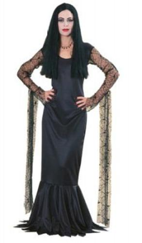 Morticia-Adams-Halloween-Fancy-Dress-Ladies-Costume-NEW