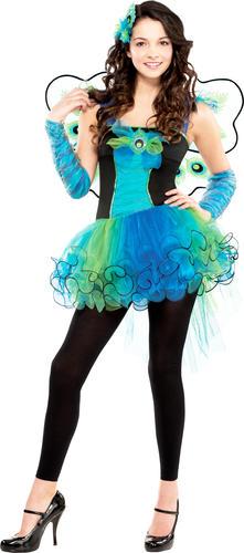 PAVONE Diva Ali Ragazze Costume Animale Bird Bambini Libro Settimana Giorno Costume