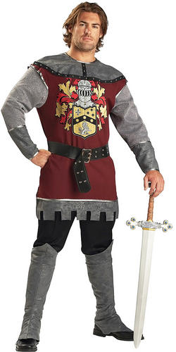 Noble Knight Mens Fancy Dress Medieval Fairytale Book Week Adults Costume Outfit