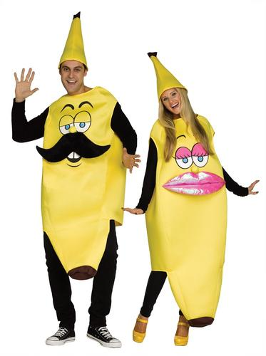 Mr And Mrs Banana Adults Fancy Dress Pair Couple Food