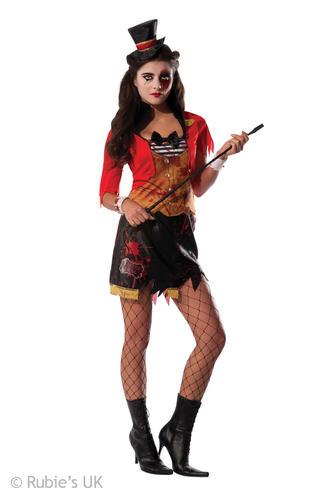 Anello amante signore Costume Circo Spaventoso Costume Di Halloween per adulti Maestro della Campanella