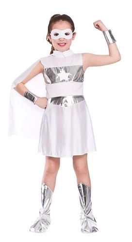 Superhero Girls Fancy Dress Heroes Comic Book Powers Kids Childrens Costume New