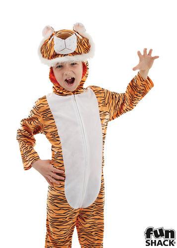 TIGER Ragazzi Costume Zoo Animale Libro Della Giungla Per Bambini Costume Personaggio