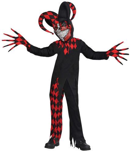 Scary Clowns Boys Fancy Dress Halloween Horror Joker Circus Kids Childs Costumes