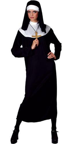 Nun Fancy Dress Ladies Religious Saints /& Sinners Womens Adults Long Costume New