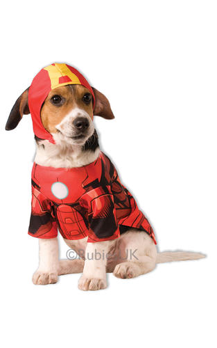 Superhero Dog Fancy Dress Super Heroes Avengers Marvel Comic Pet Puppy Costumes
