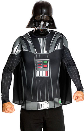 star wars villains shirts mask mens fancy dress. Black Bedroom Furniture Sets. Home Design Ideas