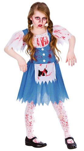Zombie Blood Halloween Girls Fancy Dress Horror Spooky Kids Childrens Costumes