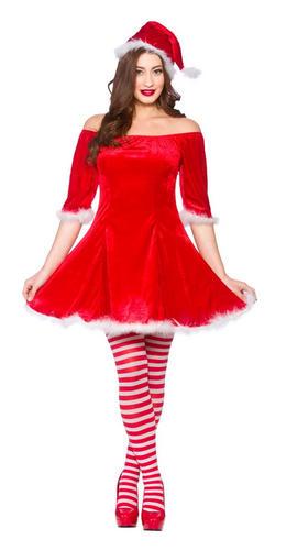 La sra santa claus ayudante elf damas vestido elaborado - Disfraz de santa claus para nino ...