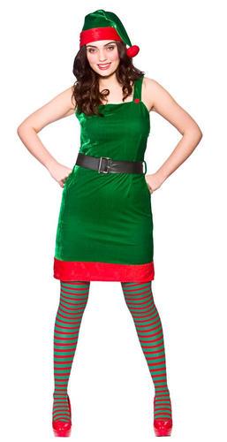 Mrs santa claus helper elf ladies fancy dress christmas