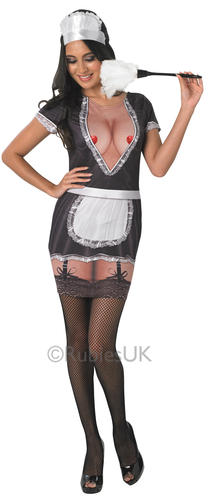 Sexy French Maid Ladies Fancy Dress Hen Party Womens ...
